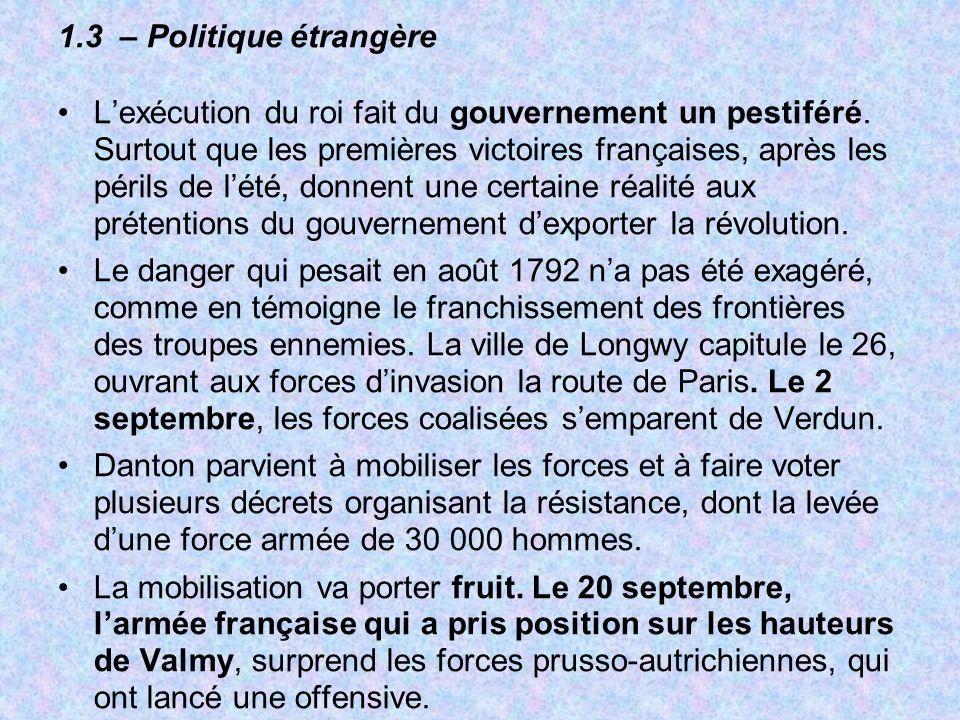 1.3 – Politique étrangère