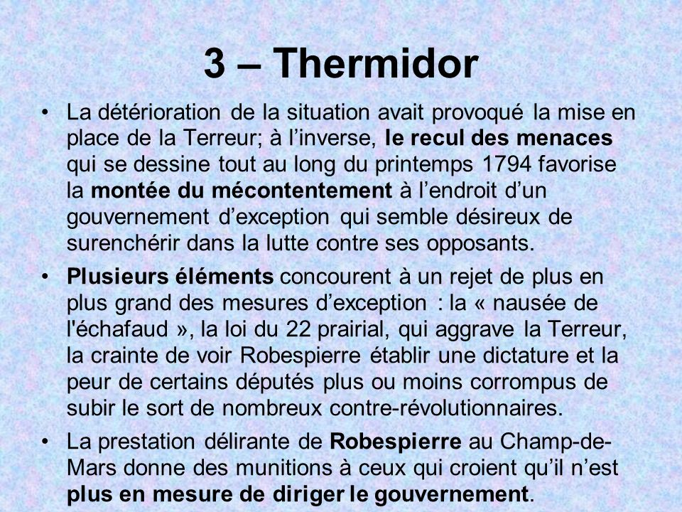 3 – Thermidor