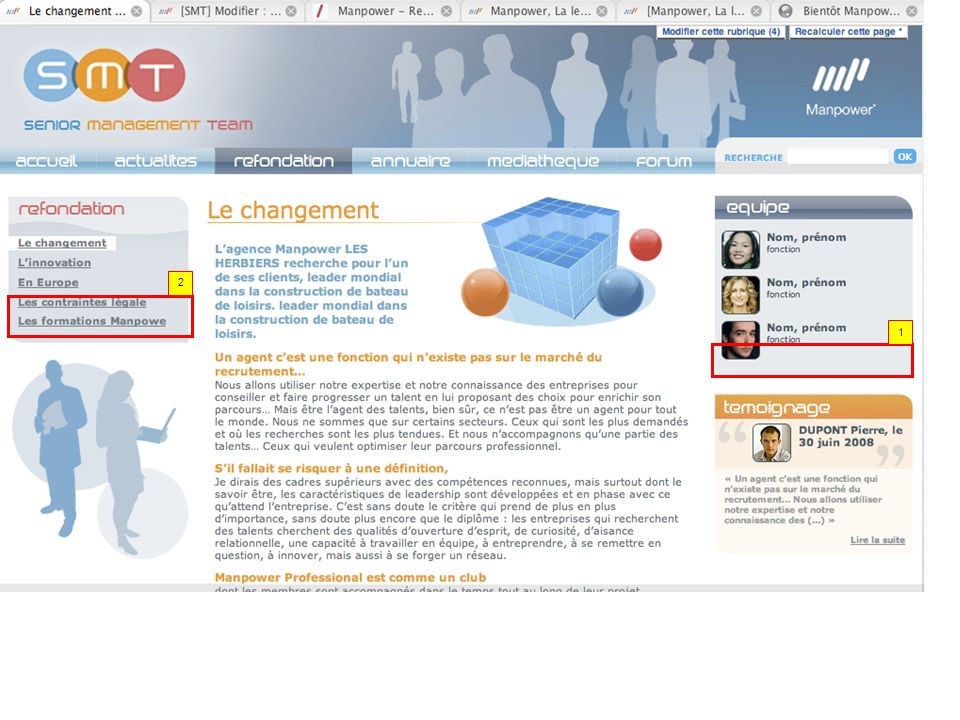 Pourrais-tu ajouter un lien allant vers la page Equipe NL 11/07 : ok