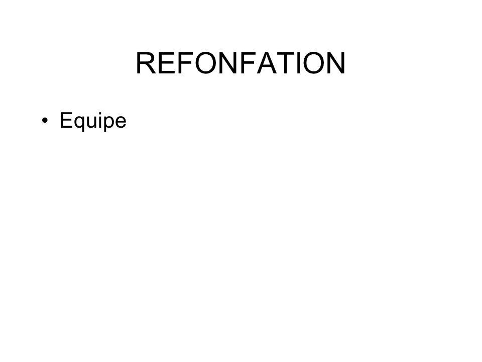 REFONFATION Equipe