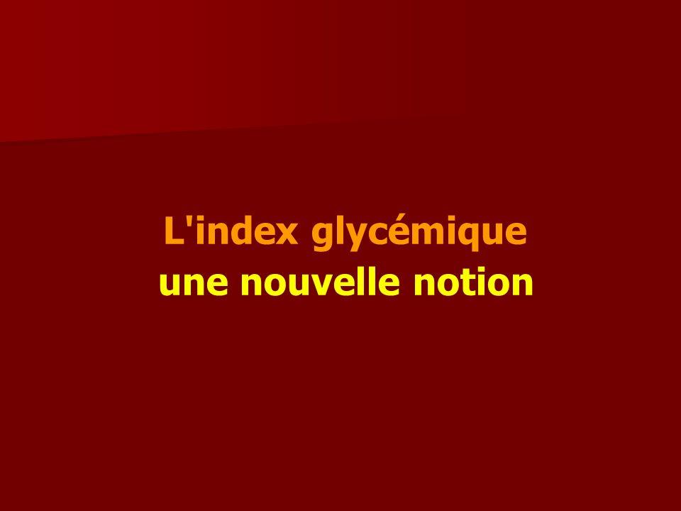 1010 L index glycémique une nouvelle notion
