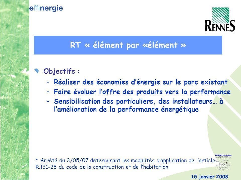 RT « élément par «élément »