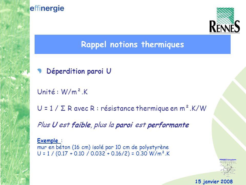 Rappel notions thermiques