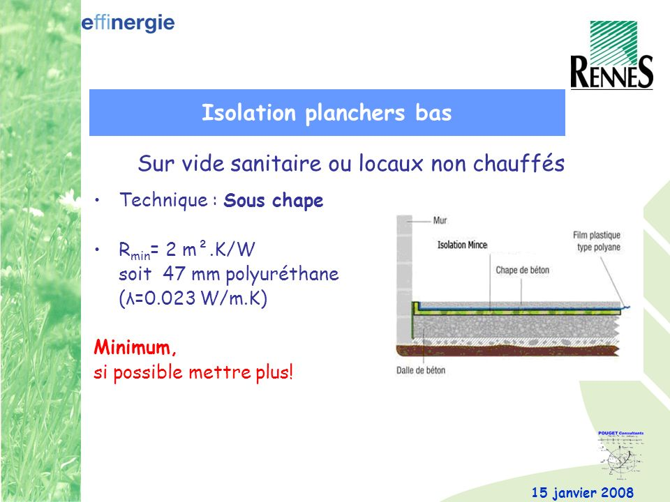 Isolation planchers bas