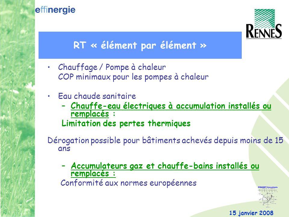 RT « élément par élément »