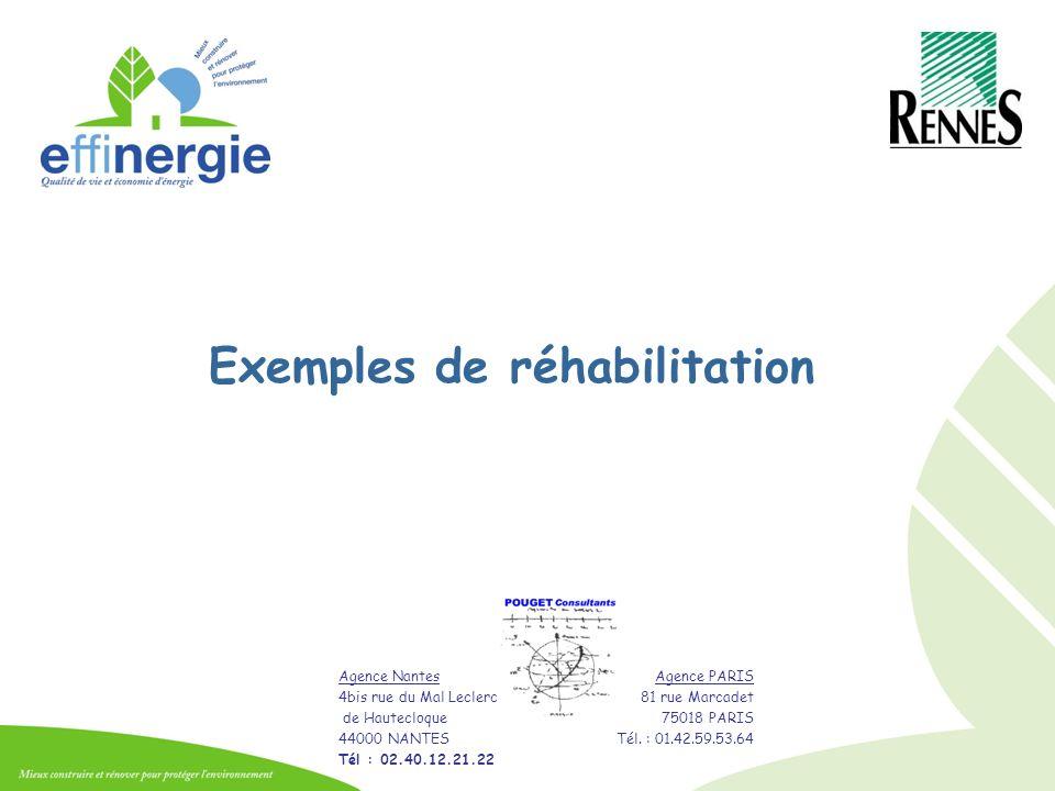 Exemples de réhabilitation