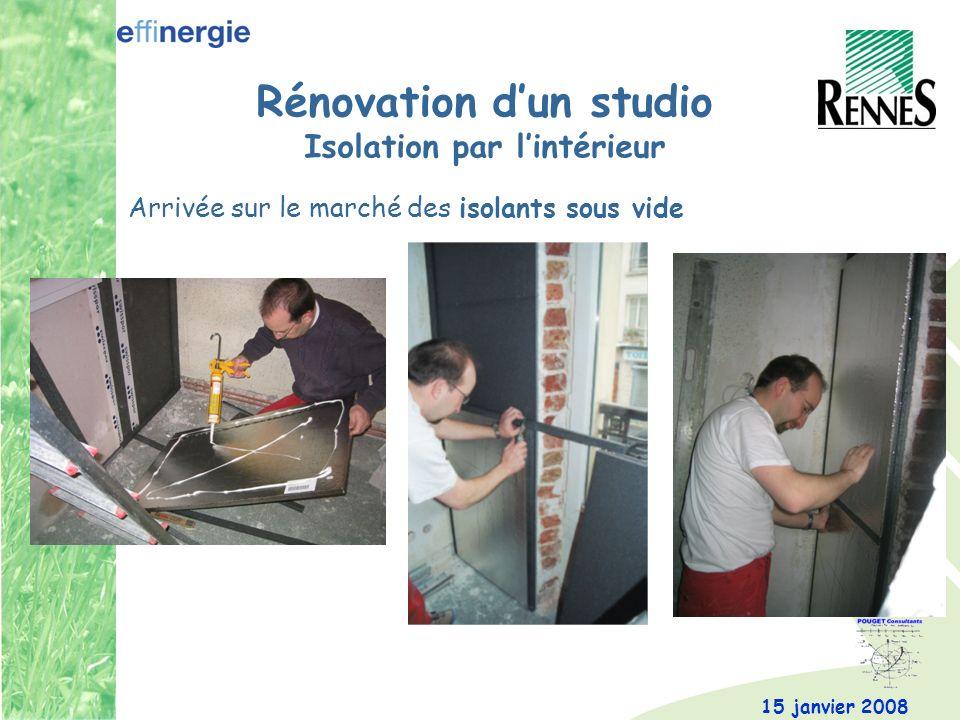 Rénovation d'un studio Isolation par l'intérieur