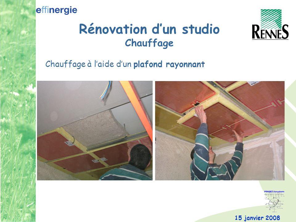 Rénovation d'un studio Chauffage