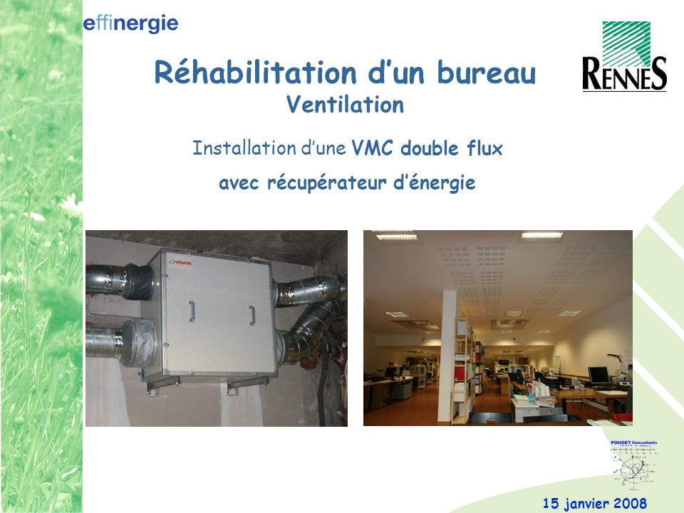 Réhabilitation d'un bureau Ventilation