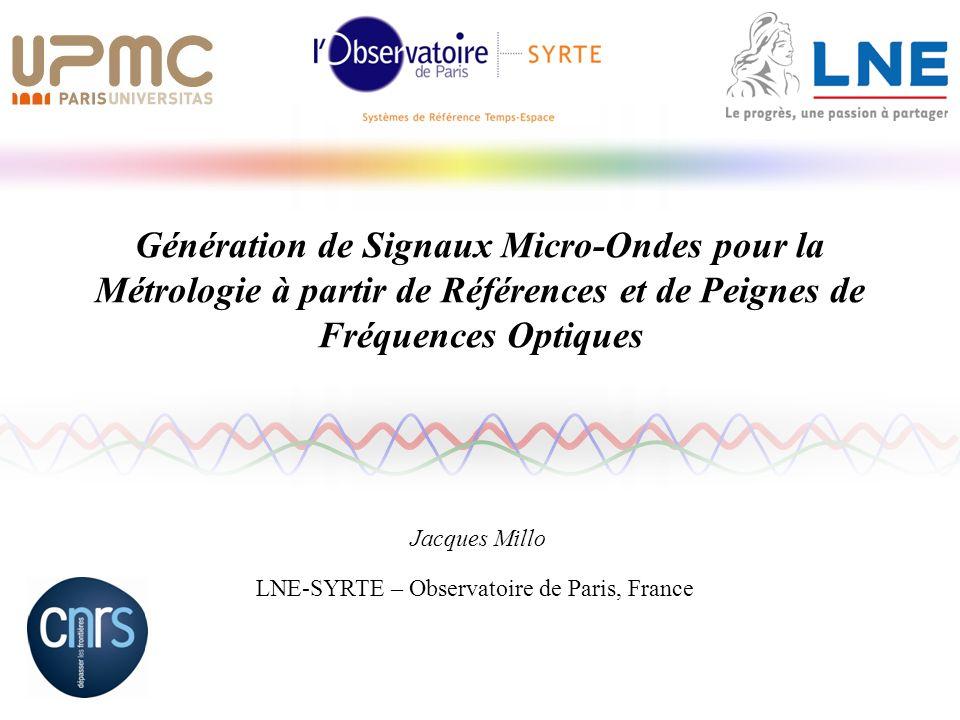 LNE-SYRTE – Observatoire de Paris, France