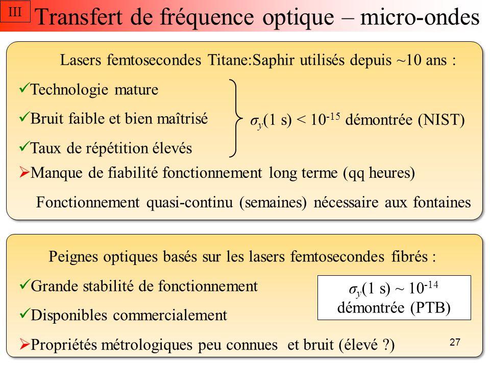 Transfert de fréquence optique – micro-ondes