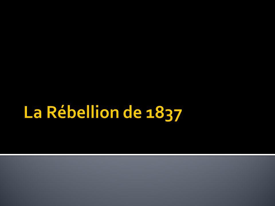 La Rébellion de 1837