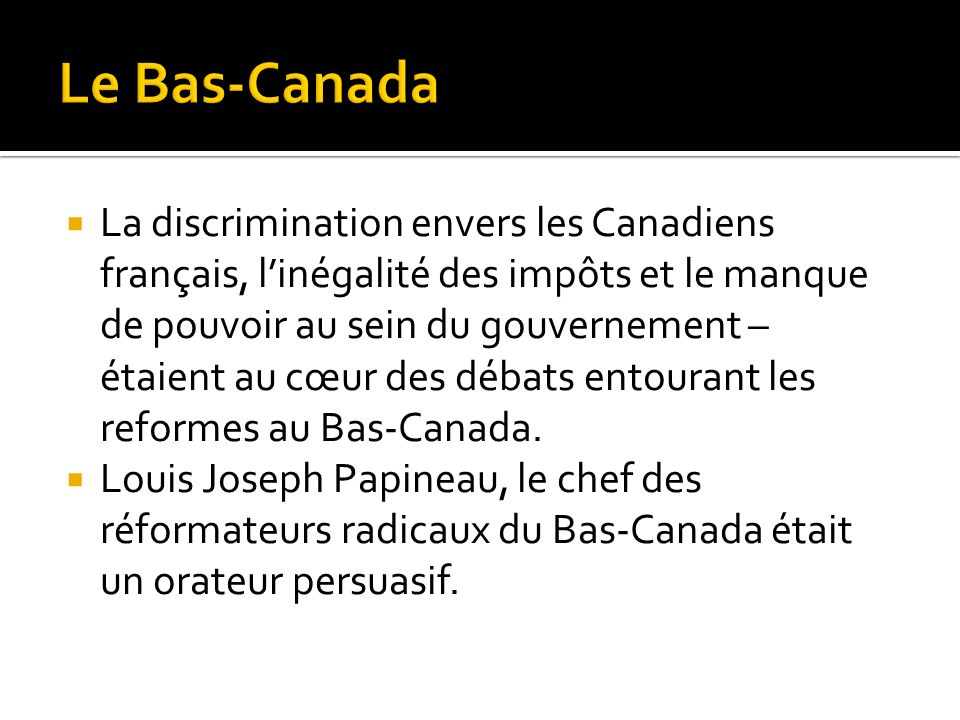 Le Bas-Canada