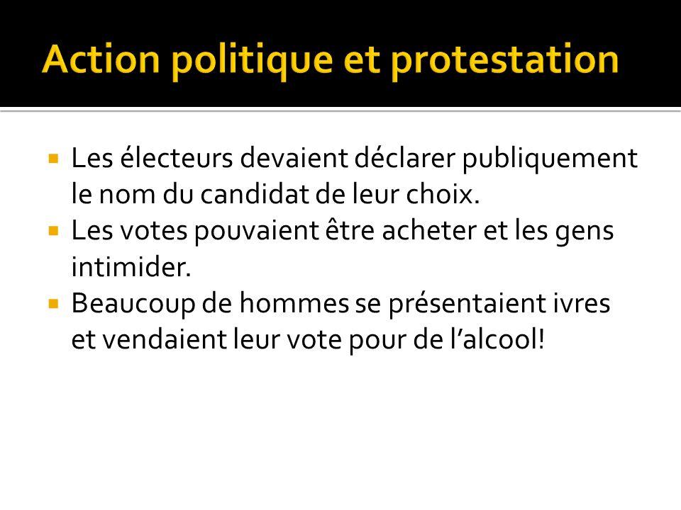 Action politique et protestation
