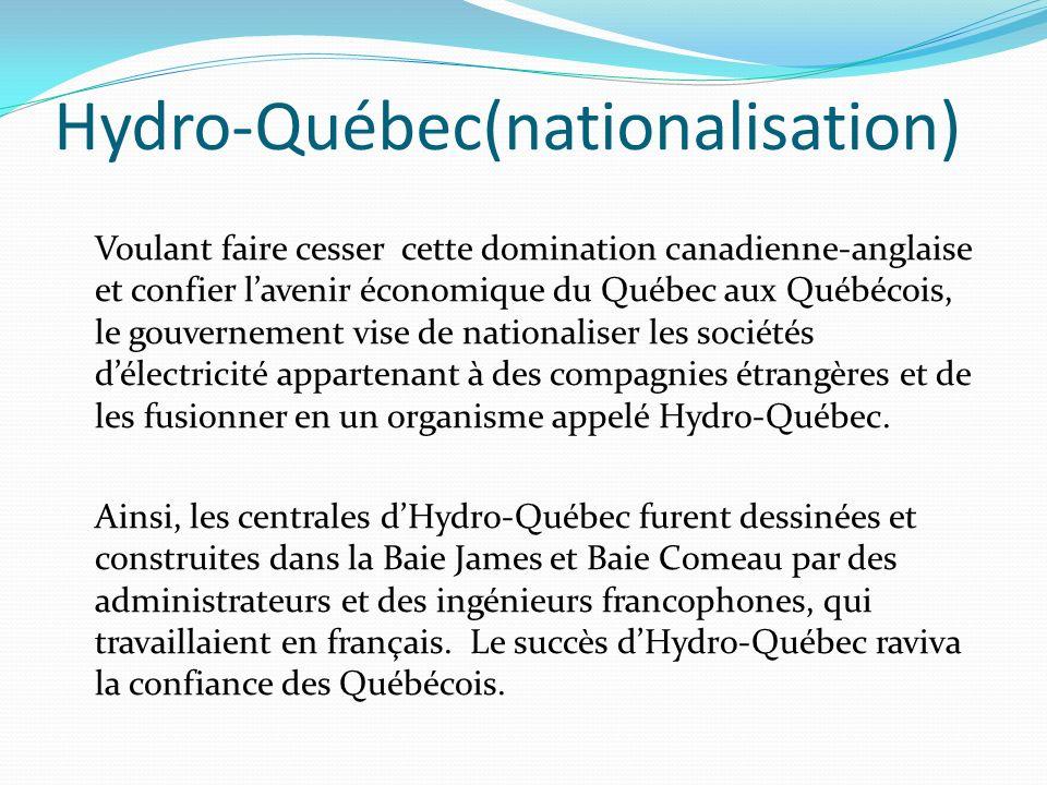 Hydro-Québec(nationalisation)