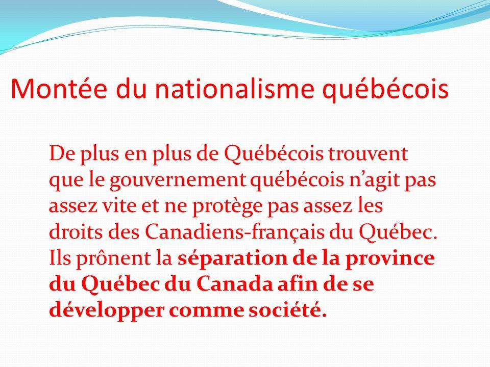 Montée du nationalisme québécois