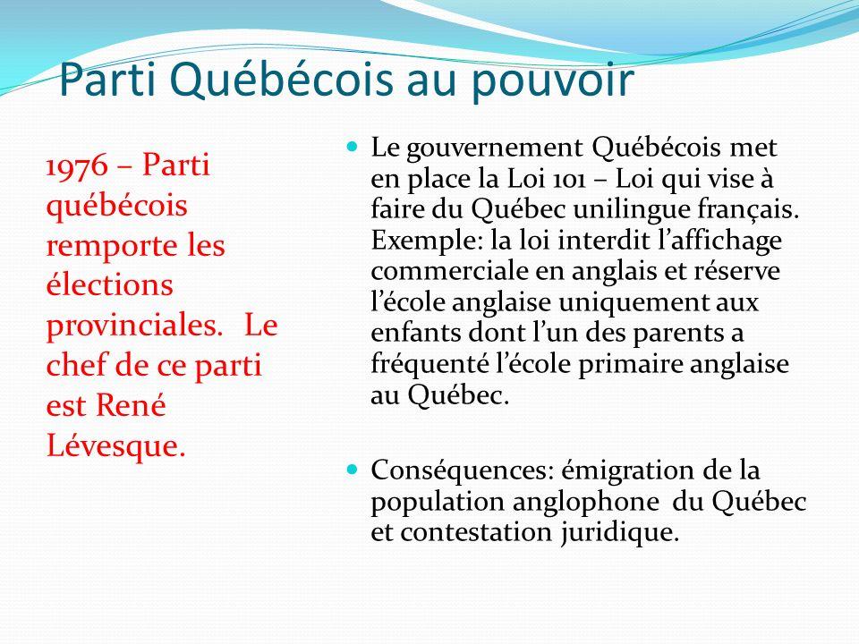 Parti Québécois au pouvoir