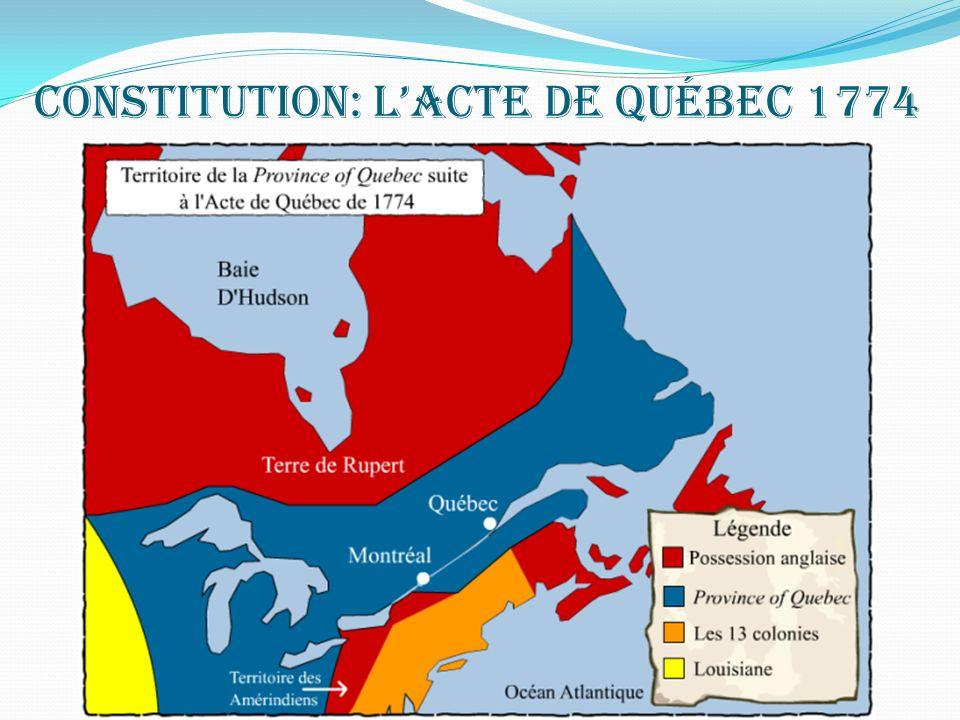 Constitution: L'Acte de Québec 1774