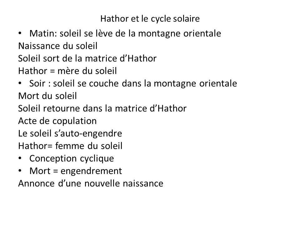 Hathor et le cycle solaire