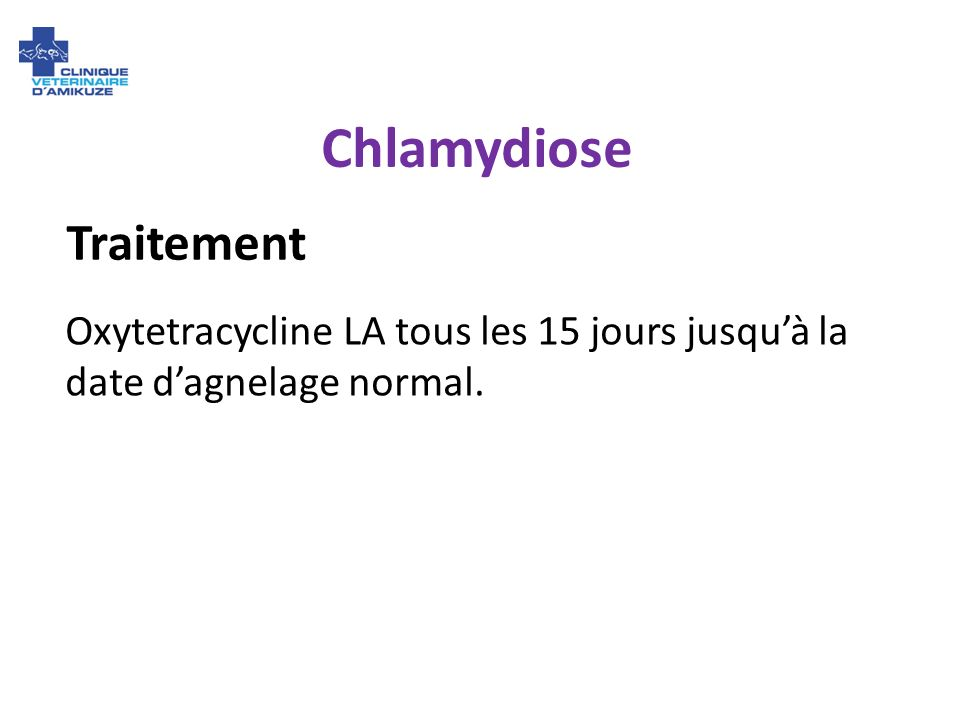 Chlamydiose Traitement