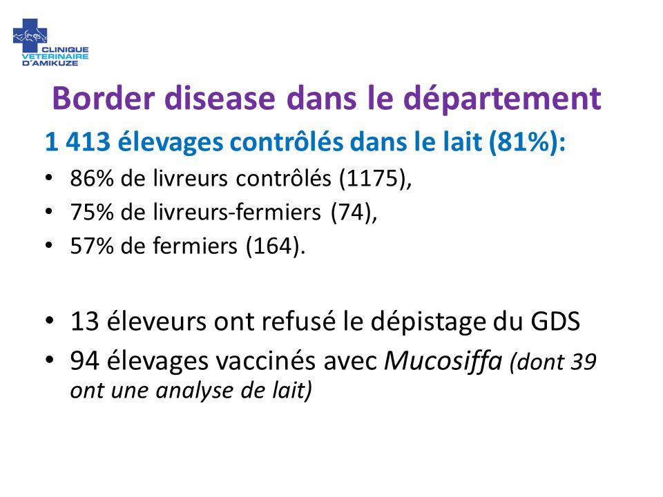 Border disease dans le département