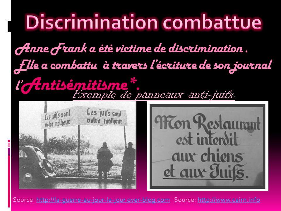 Discrimination combattue