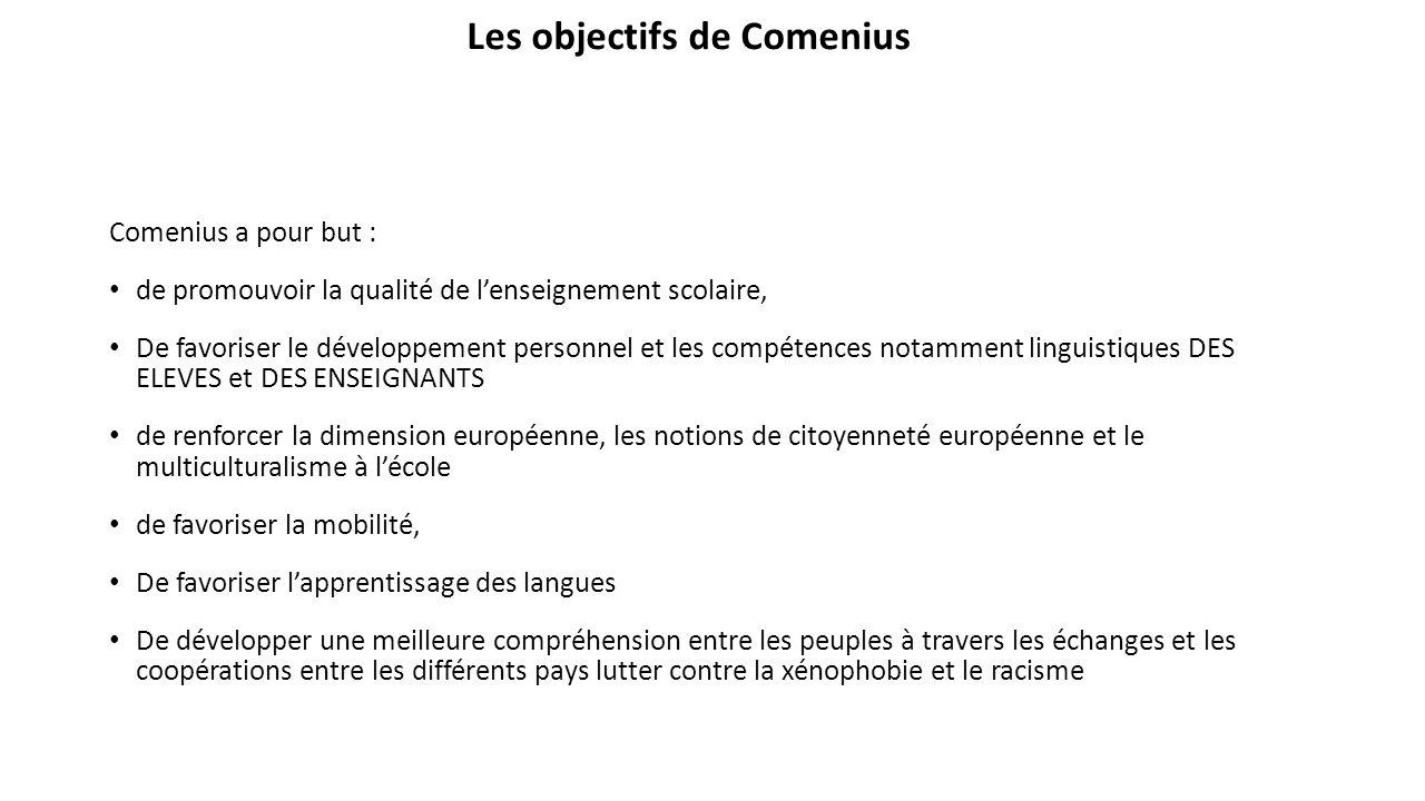 Les objectifs de Comenius