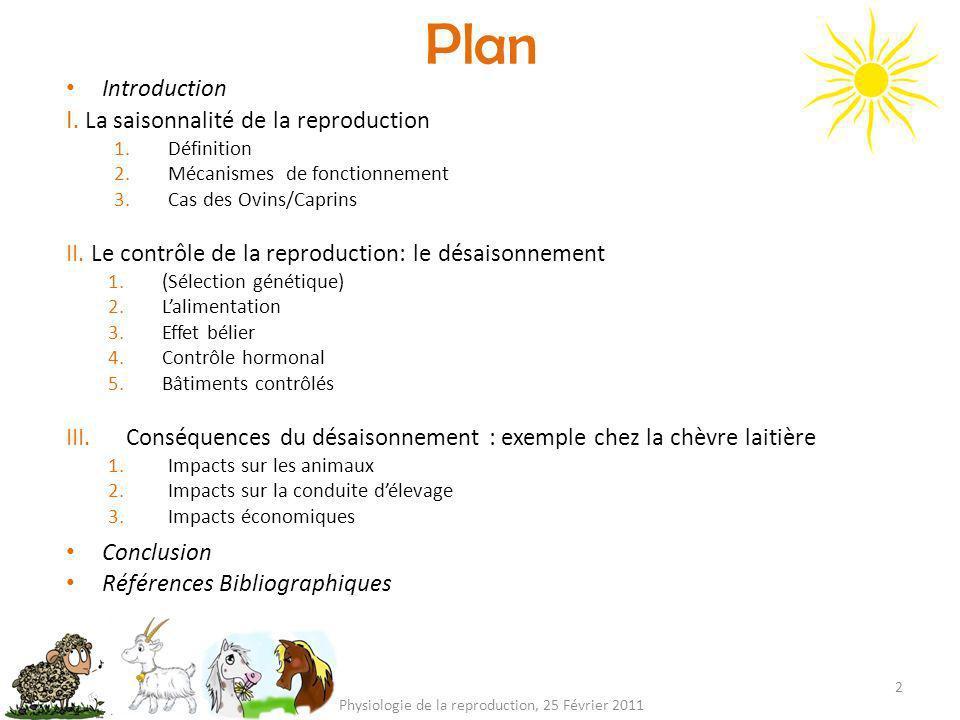 Physiologie de la reproduction, 25 Février 2011