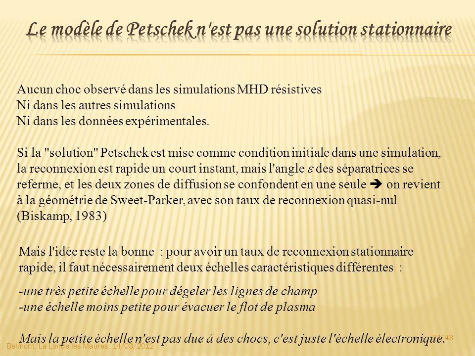 Le modèle de Petschek n est pas une solution stationnaire