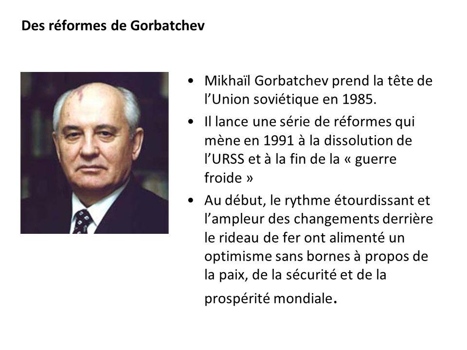 Des réformes de Gorbatchev