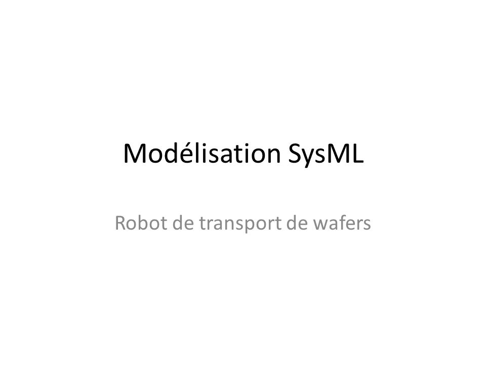 Robot de transport de wafers