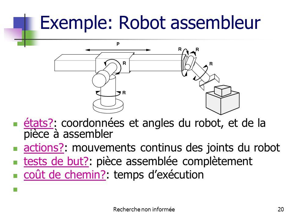 Exemple: Robot assembleur