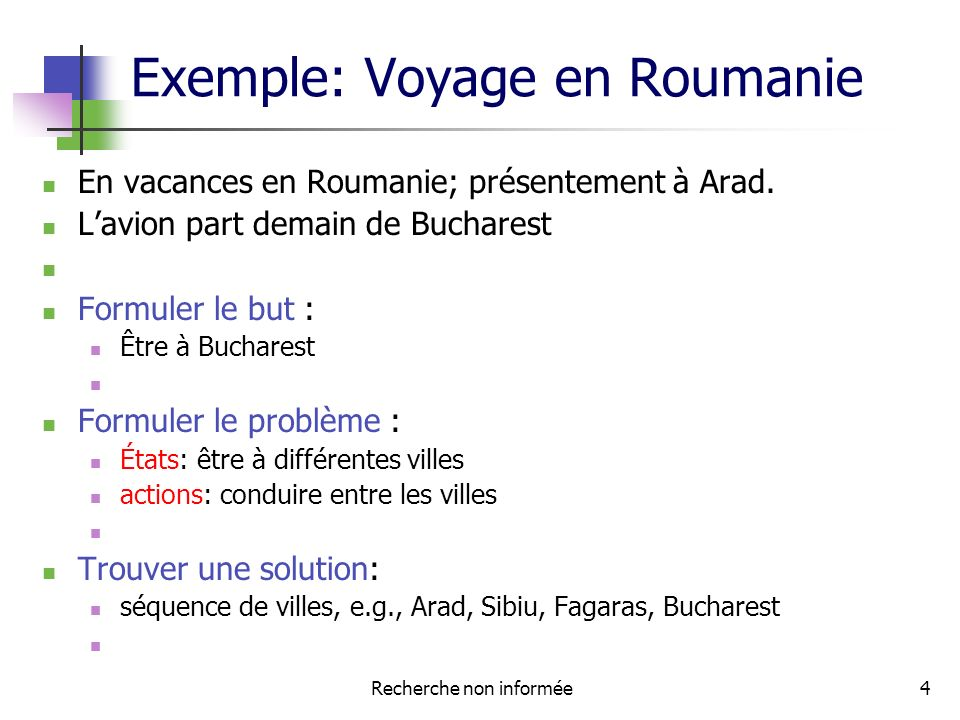 Exemple: Voyage en Roumanie