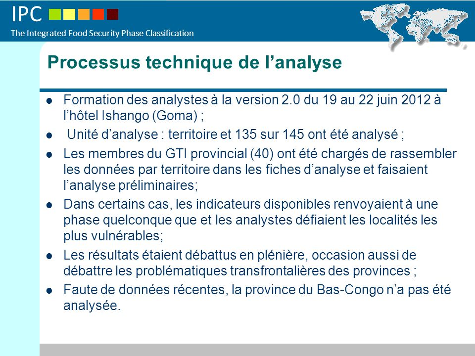 Processus technique de l'analyse