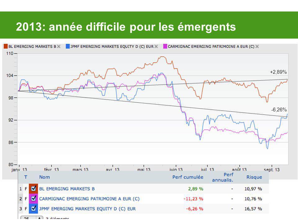 2013: année difficile pour les émergents