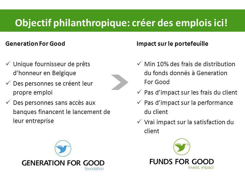 Objectif philanthropique: créer des emplois ici!
