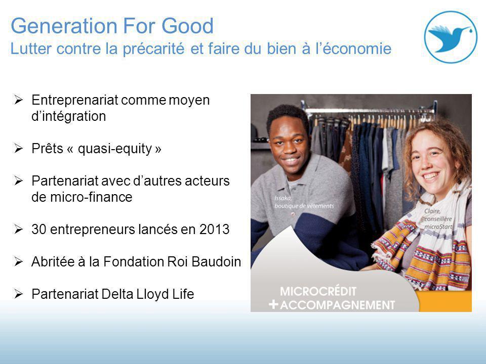 Generation For Good Lutter contre la précarité et faire du bien à l'économie