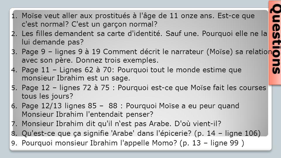 Moïse veut aller aux prostitués à l âge de 11 onze ans