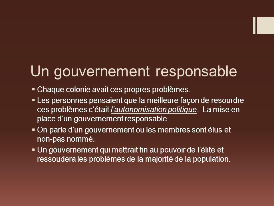 Un gouvernement responsable
