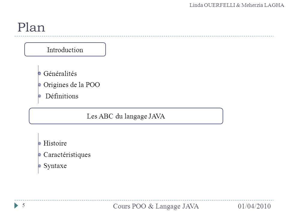 Plan Introduction Généralités Origines de la POO Définitions