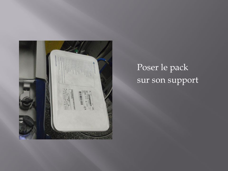Poser le pack sur son support