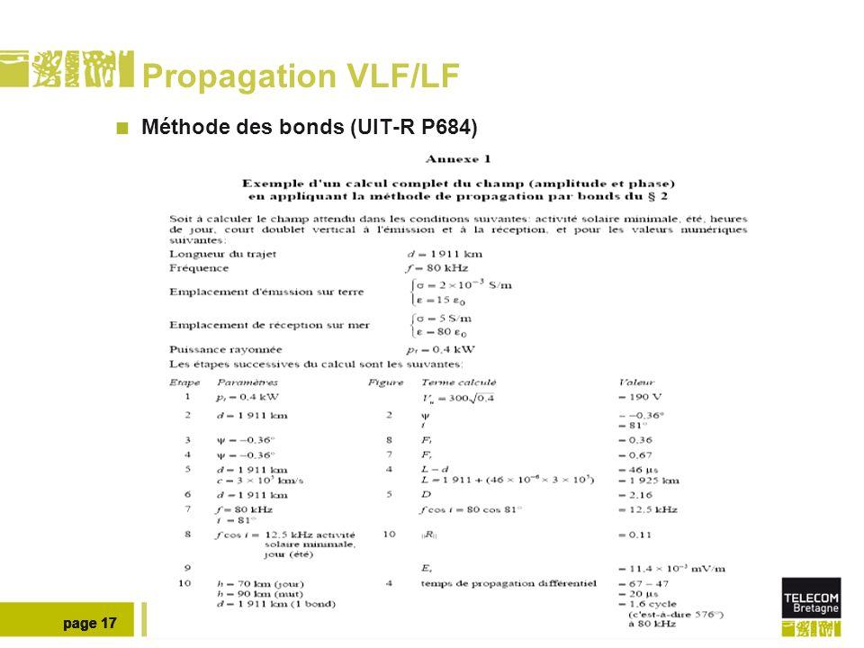 Propagation VLF/LF JOUR NUIT Méthode des bonds : 60 KHz page 18