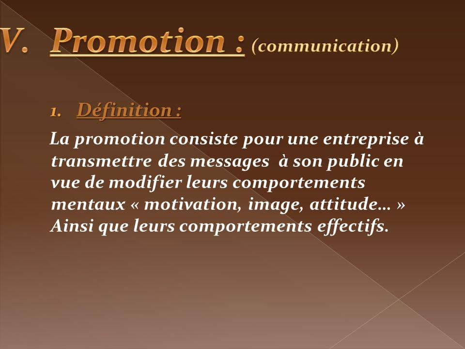 Promotion : Définition :