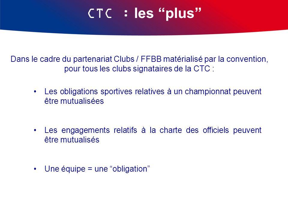 pour tous les clubs signataires de la CTC :