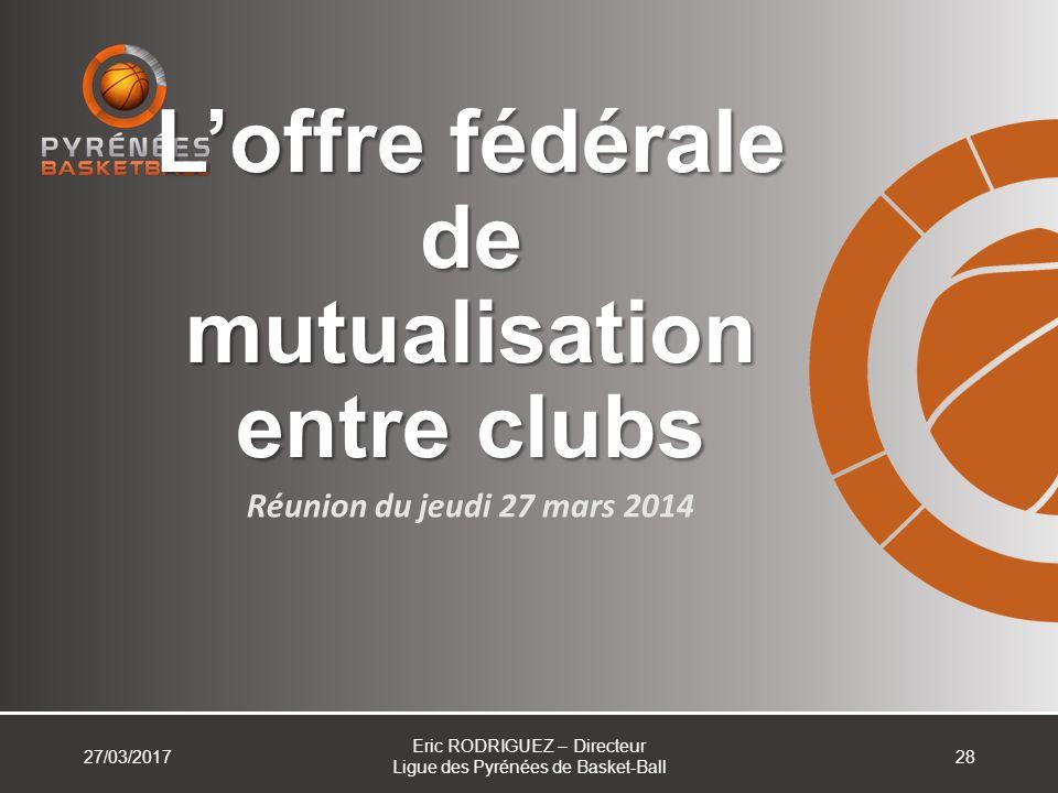 L'offre fédérale de mutualisation entre clubs