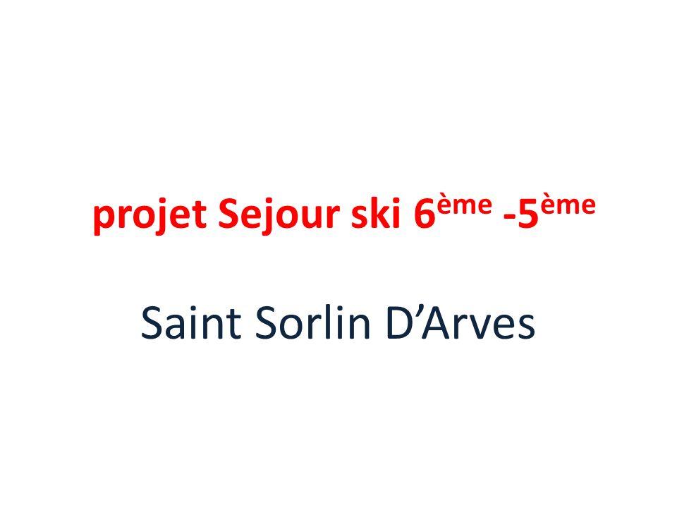 projet Sejour ski 6ème -5ème