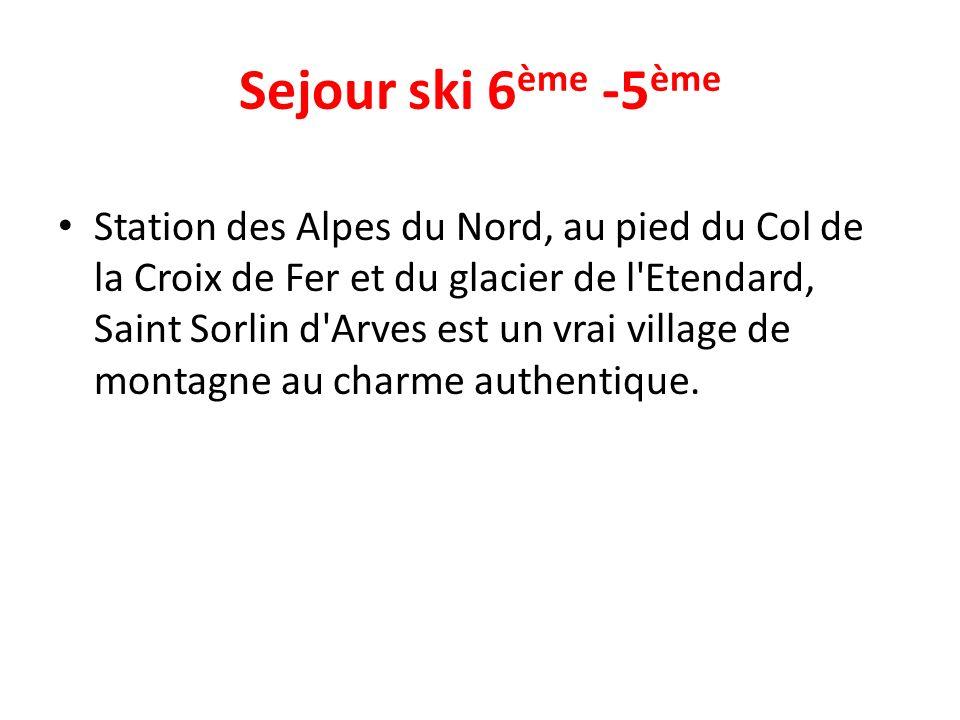 Sejour ski 6ème -5ème