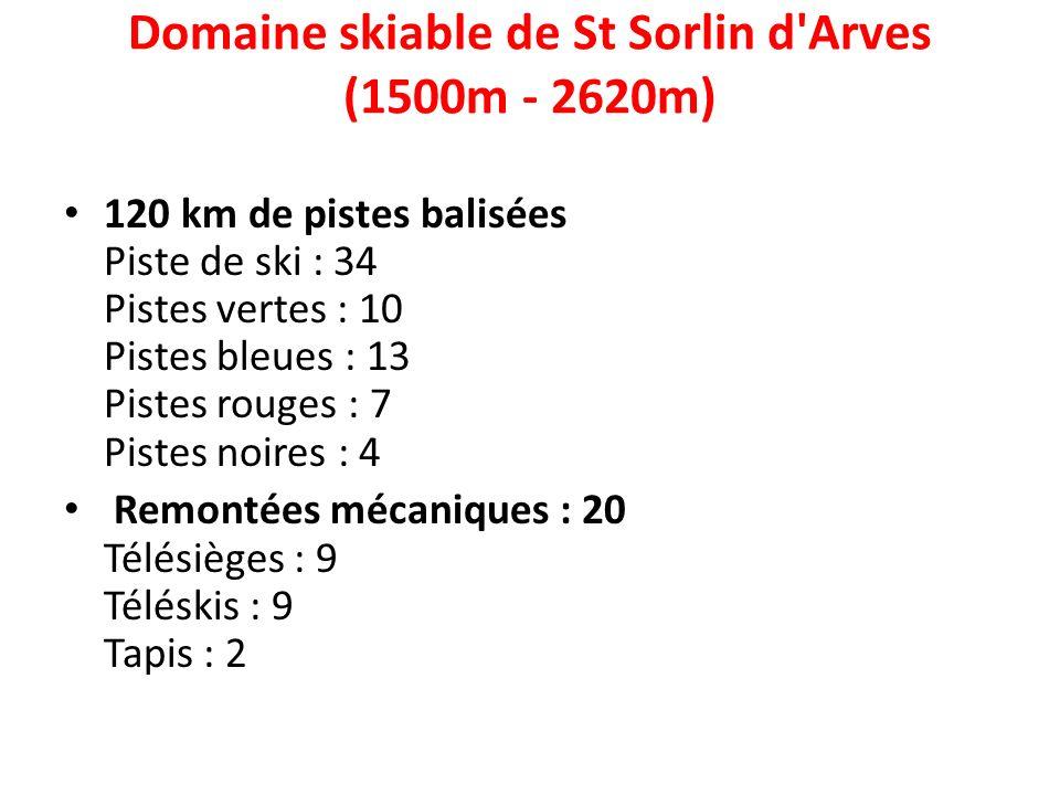 Domaine skiable de St Sorlin d Arves (1500m - 2620m)