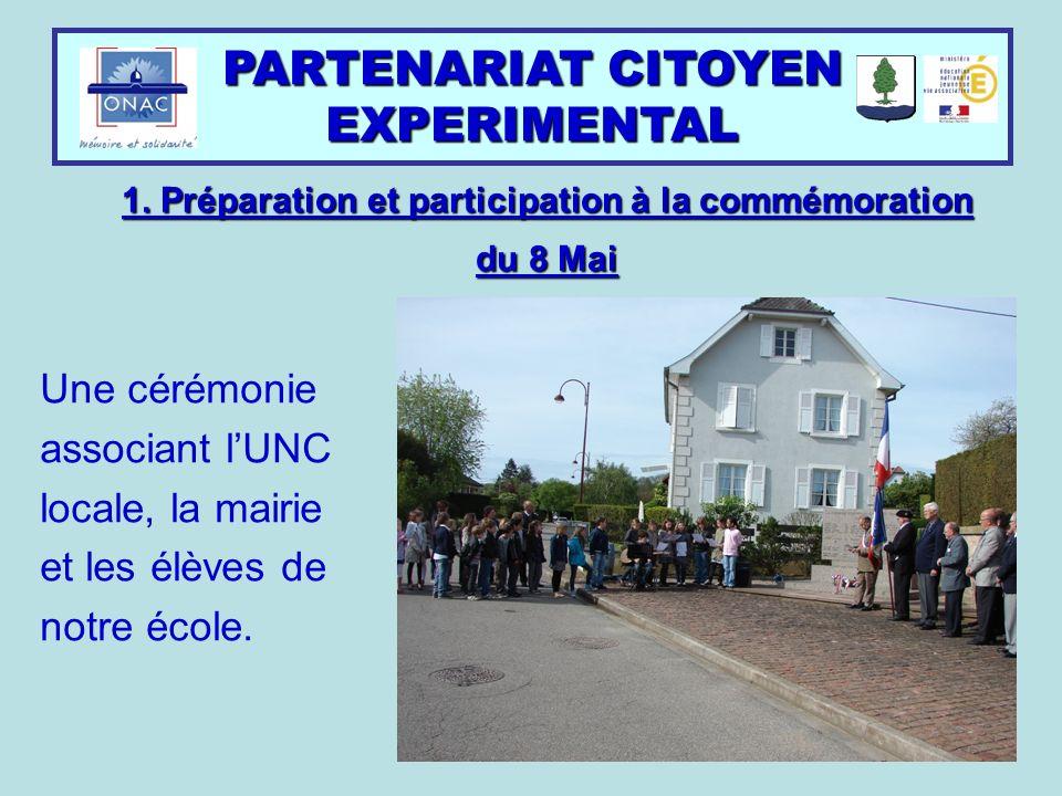 1. Préparation et participation à la commémoration