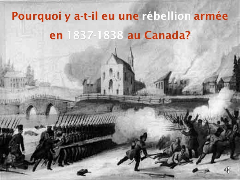 Pourquoi y a-t-il eu une rébellion armée